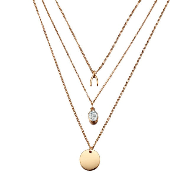 DAWN Layered Necklace - Ellie J Shoppe