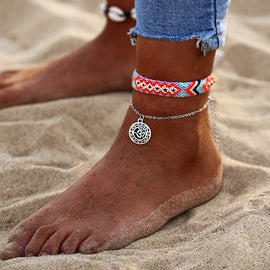 Samantha Handwoven Layered Ankle Bracelet - Ellie J Shoppe