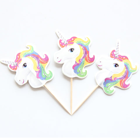 Unicorn Cupcake Topper - 24 Piece Set - Ellie J Shoppe