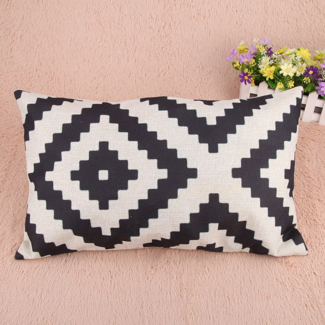 Geometric Pattern Pillowcase - Ellie J Shoppe