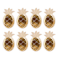 Gold Foil Pineapple Paper Plates - 8 Piece Set - Ellie J Shoppe