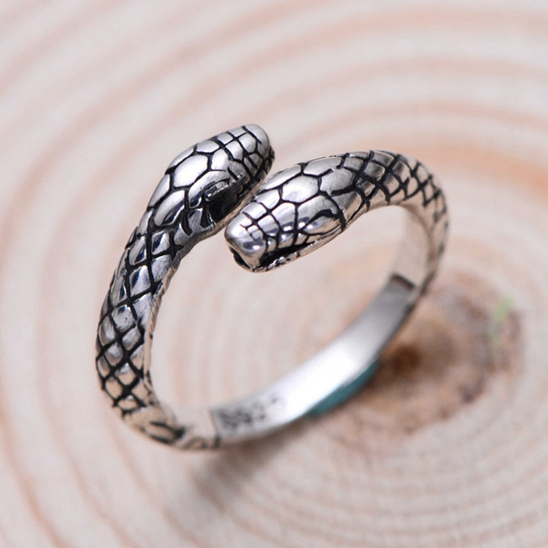 Vintage Two Headed Snake Ring - Ellie J Shoppe
