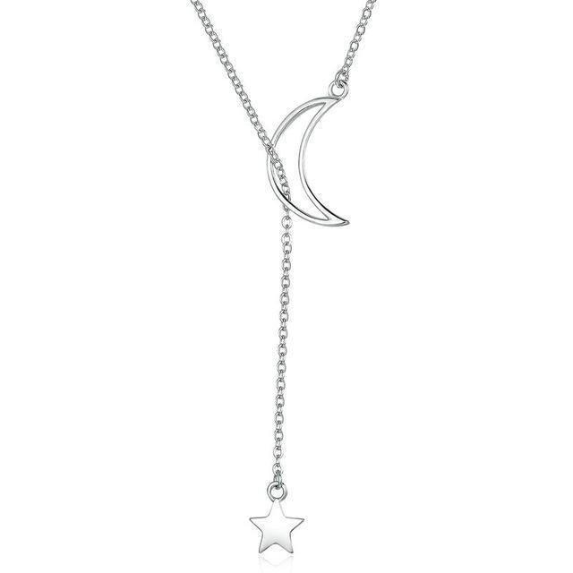 SKYLAR  Moon and Star Necklace - Ellie J Shoppe