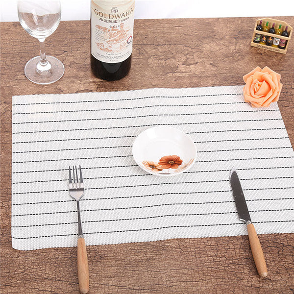 Set of 4 PVC Striped Placemats - Ellie J Shoppe