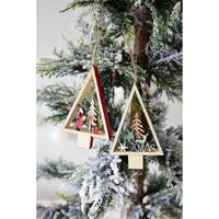 Hanging Wooden Tree Ornament - Ellie J Shoppe