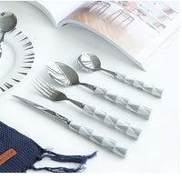 4-Piece Geometric Handle Flatware Set - Ellie J Shoppe