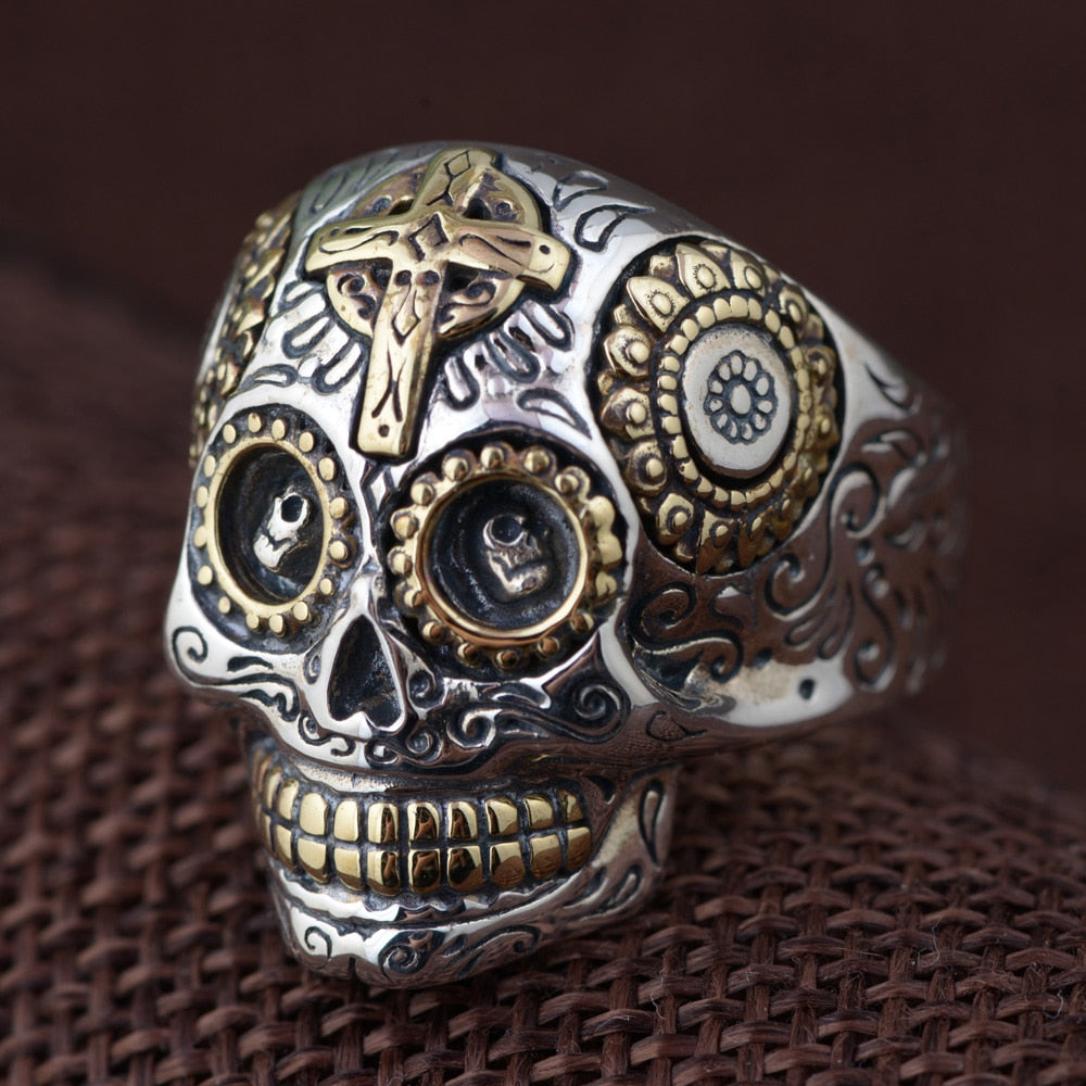 Vintage Sugar Skull Ring - Ellie J Shoppe