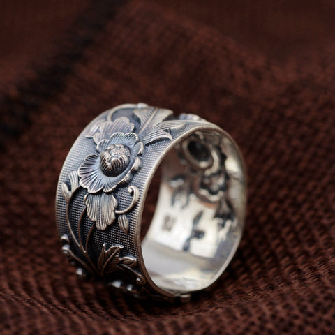 Vintage Flower Ring - Ellie J Shoppe
