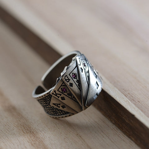 Vintage Playing Cards Ring - Ellie J Shoppe