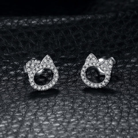 ELLA Cat Head Stud Earrings - Ellie J Shoppe