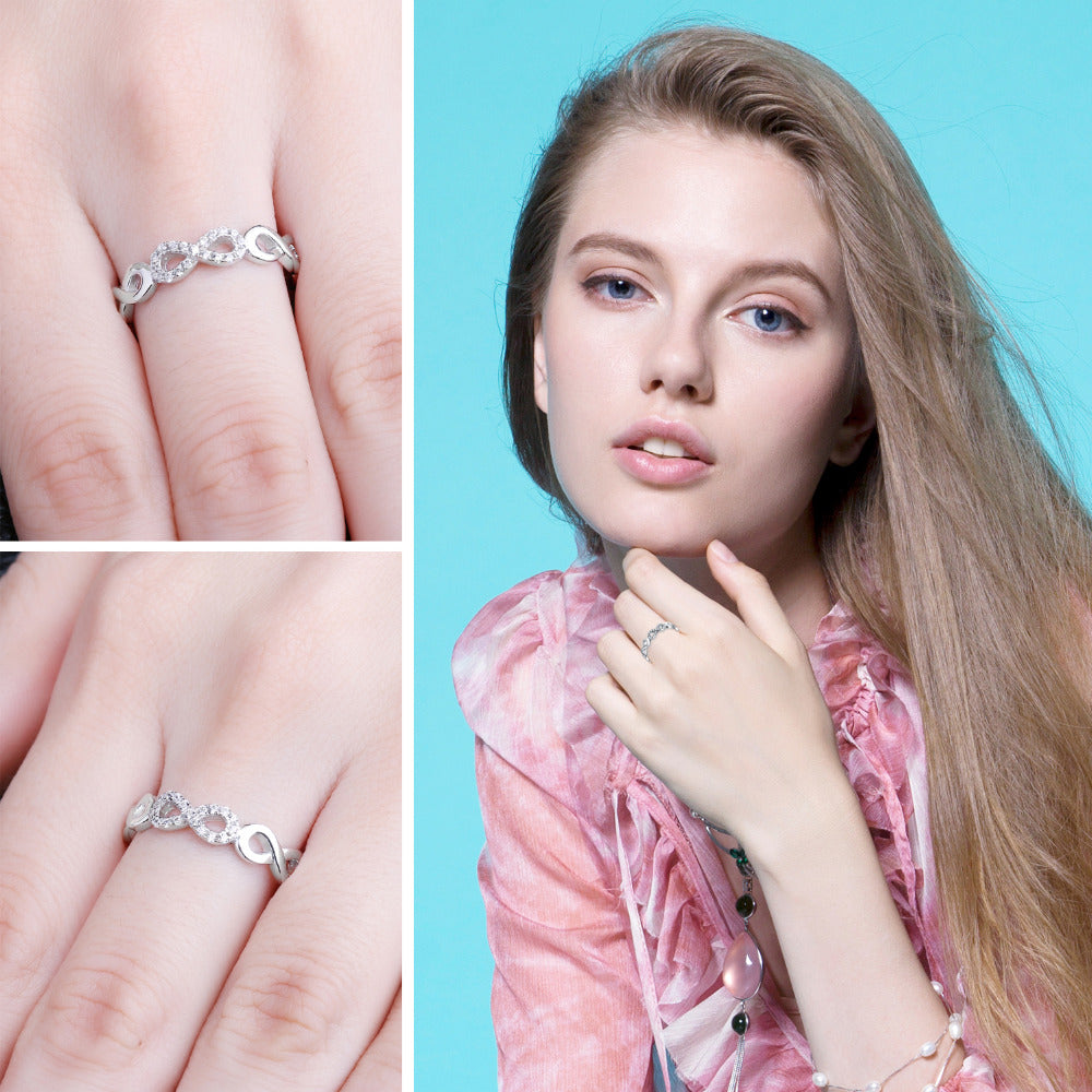 LILY Infinity Band Ring - Ellie J Shoppe