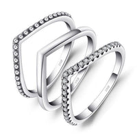 AUBREE V-Shaped Ring Set - Ellie J Shoppe