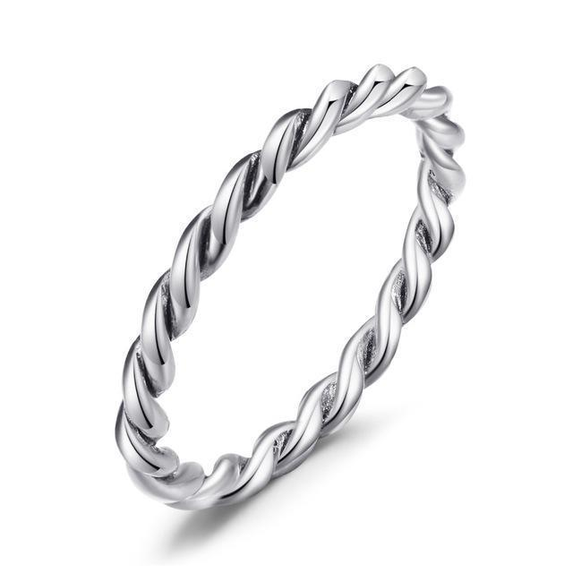 ARIA Twisted Rope Ring - Ellie J Shoppe