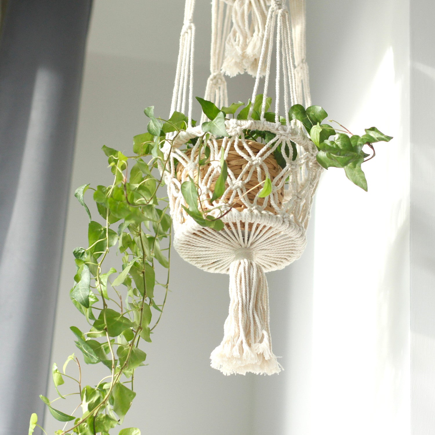 Macrame Pot Holder - Double Holder - Ellie J Shoppe