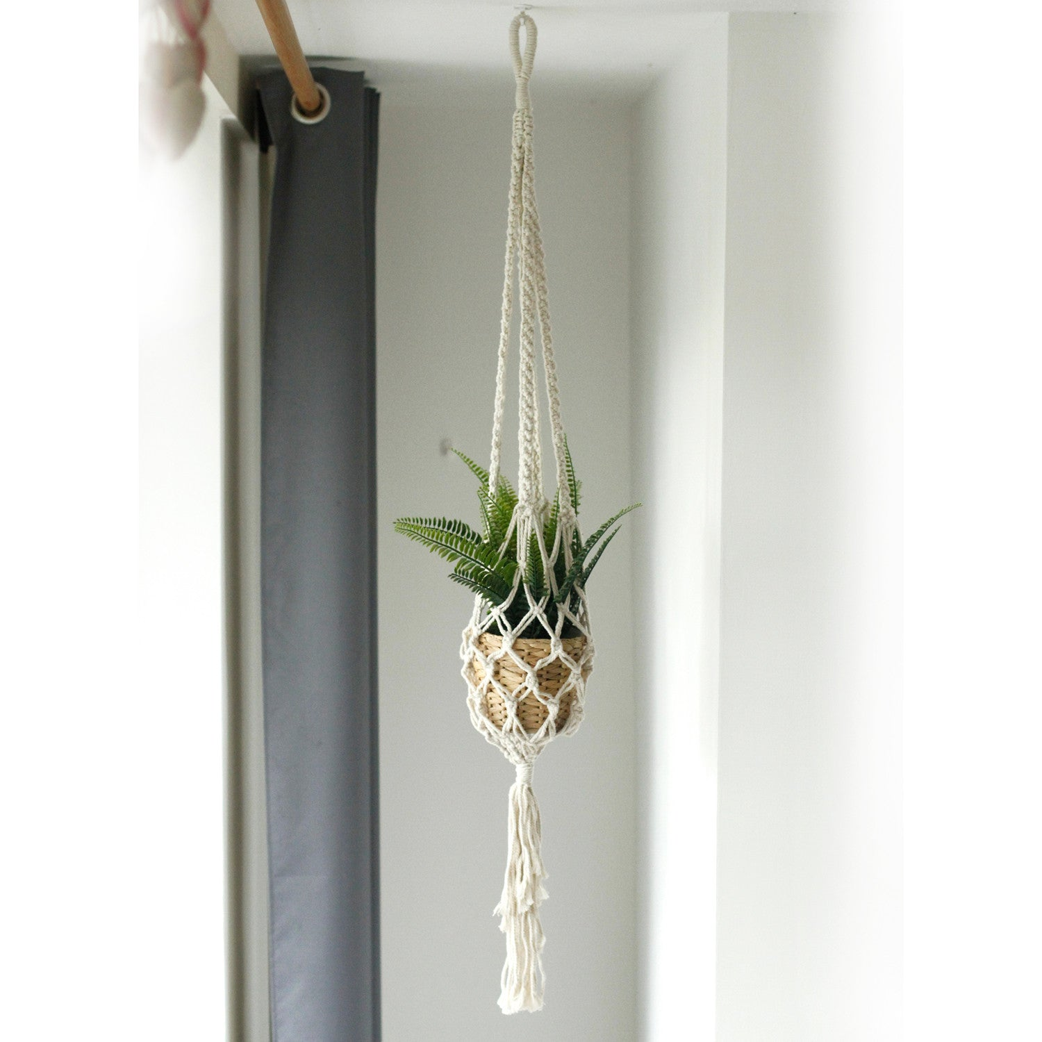 Macrame Pot Holder - Large Pot Holder - Extra Long - Ellie J Shoppe