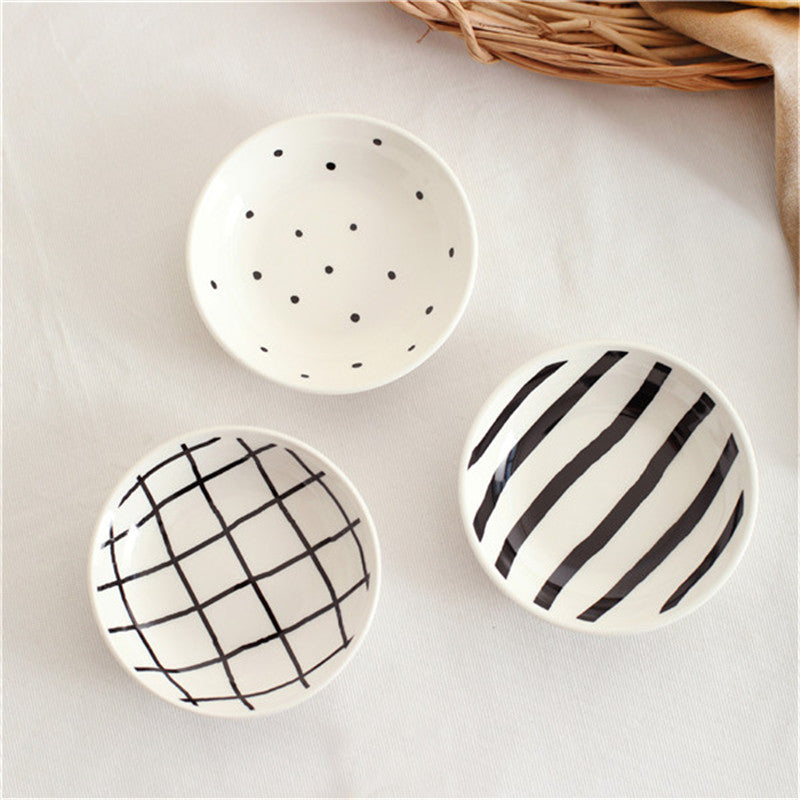 Mini Ceramic 3 Piece Saucer / Dish Set - Ellie J Shoppe