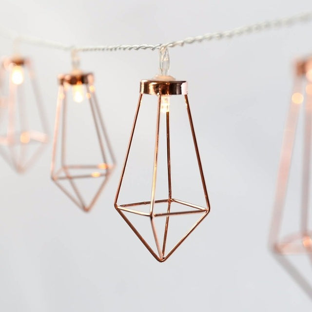 Rose Gold Metal Fairy Lights - Ellie J Shoppe