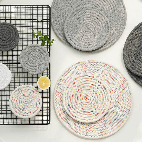 Cotton Thread Placemat Set - Ellie J Shoppe