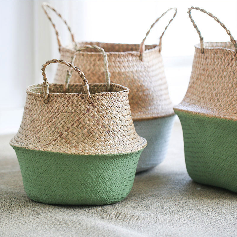 Wicker Storage Basket - Ellie J Shoppe