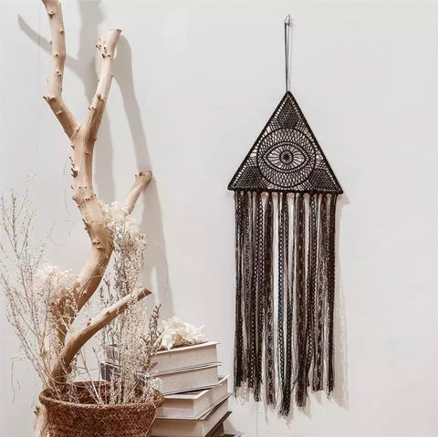 Hanging Macrame Seeing Eye Wall Decor