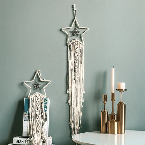 Hanging Macrame Star Wall Decor