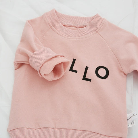 Hello Print Sweatshirt - Ellie J Shoppe