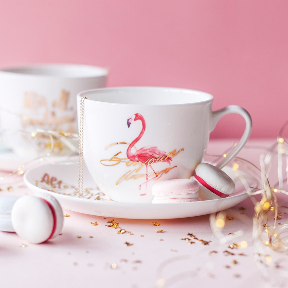 Flamingo Tea Cup Set - Ellie J Shoppe