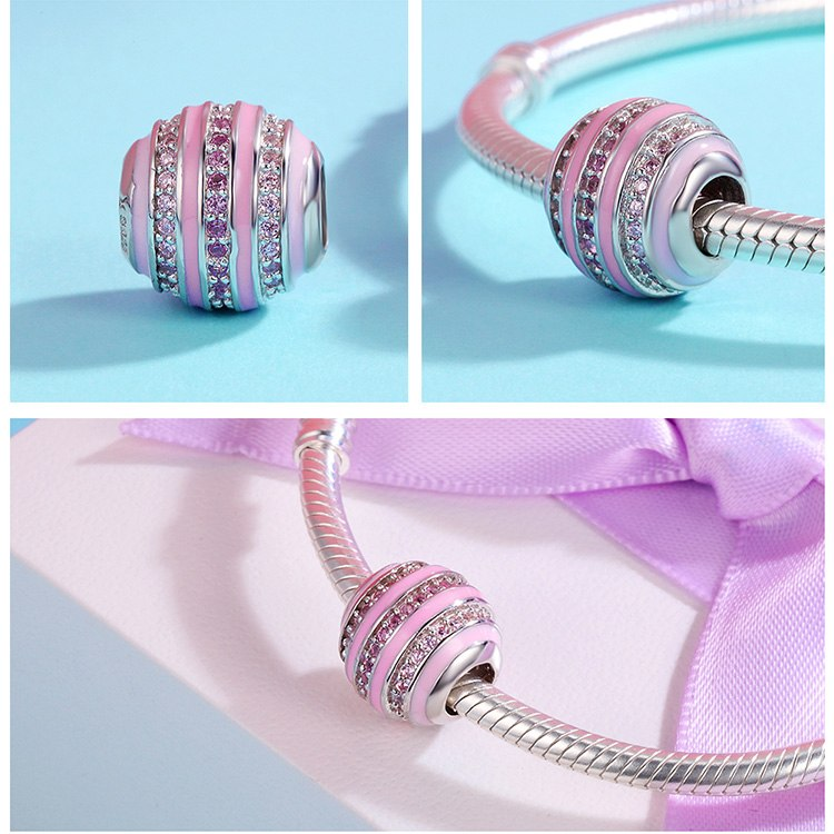 Pink Striped Charm - Ellie J Shoppe