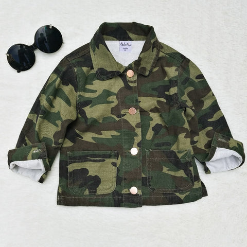 Back Patch Camo Jacket - Ellie J Shoppe