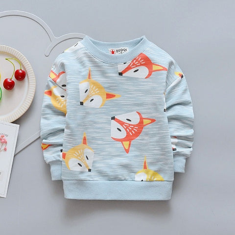 Fox Print Sweatshirt - Ellie J Shoppe