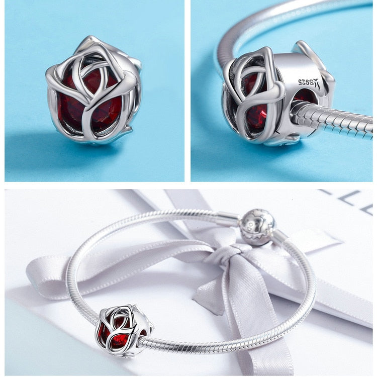 Red Rose Charm - Ellie J Shoppe