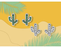 Darla Cactus Crystal Stud Earrings - Ellie J Shoppe