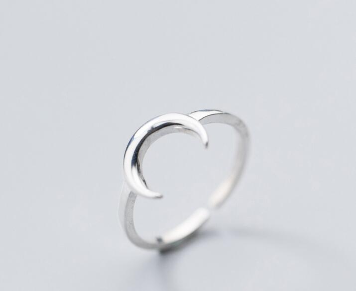 Selene Crescent Moon Ring - Ellie J Shoppe