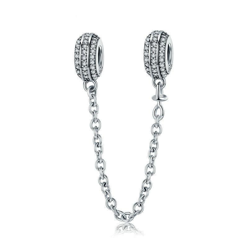Pavé Safety Chain Charm - Ellie J Shoppe