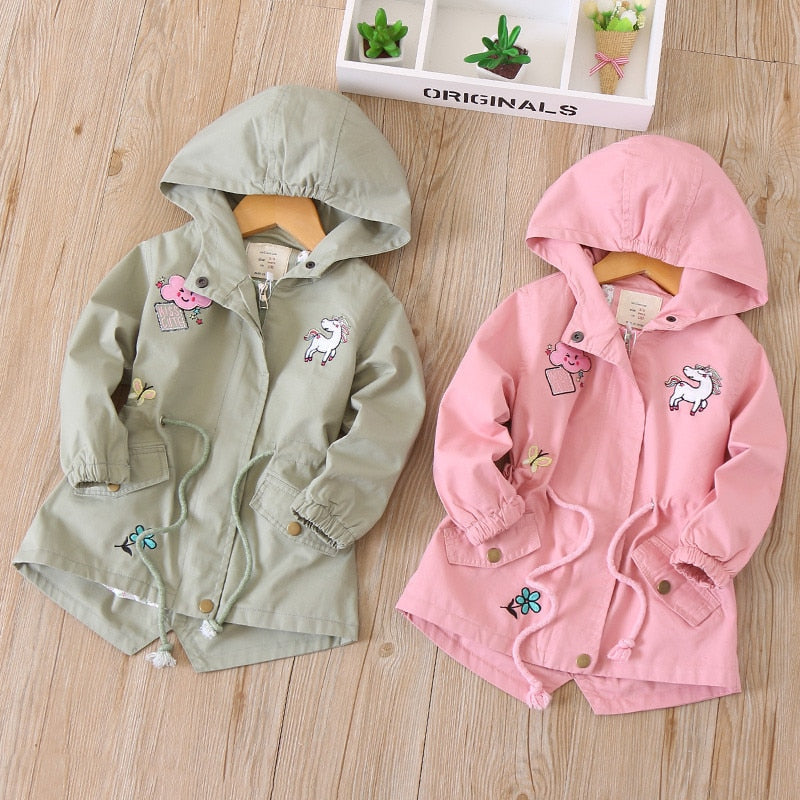 Hooded Windbreaker With Patches - Ellie J Shoppe