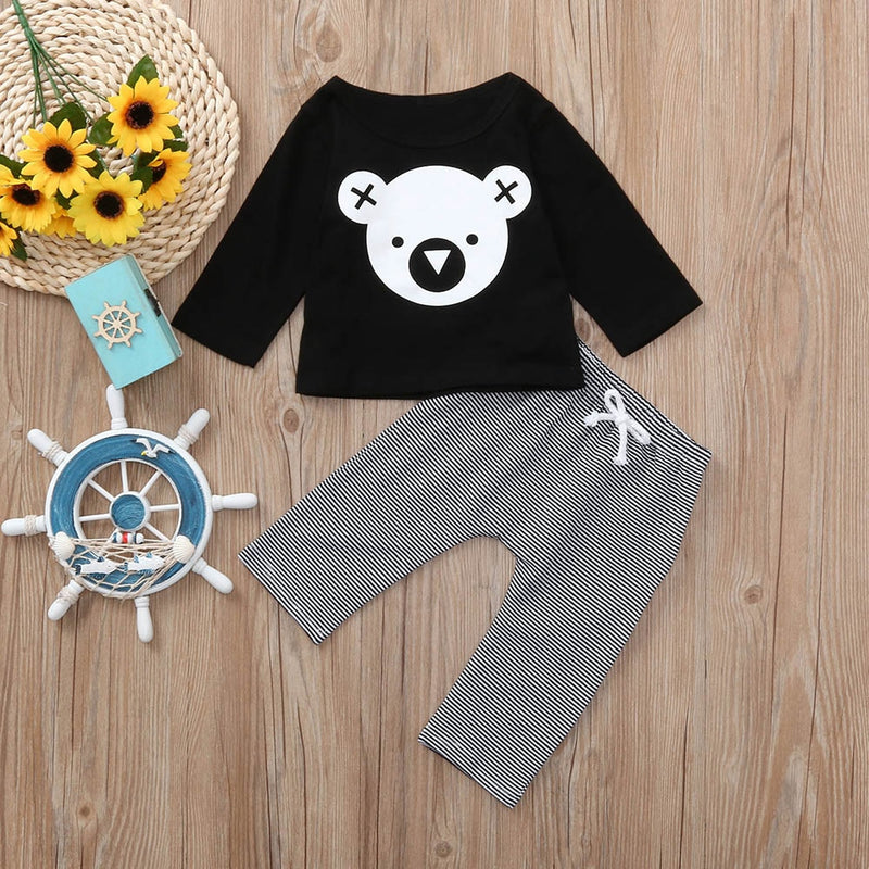 Bear Print Top 2 Piece Set - Ellie J Shoppe