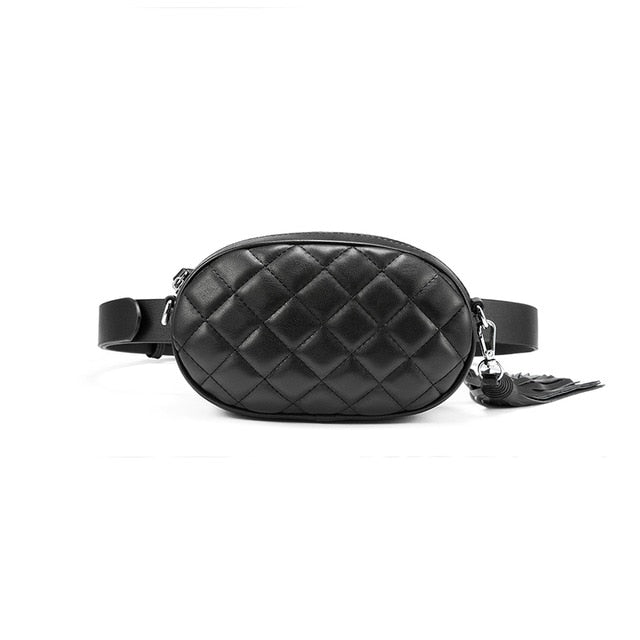 Oval Quilted Belt Bag - Ellie J Shoppe
