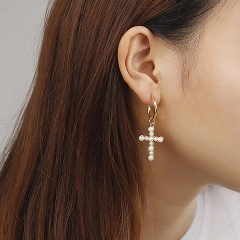 Magdalene Cross Earrings - Ellie J Shoppe