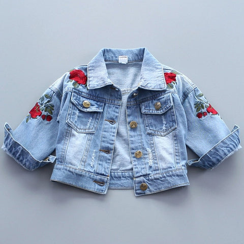 Rose Patch Jean Jacket - Ellie J Shoppe