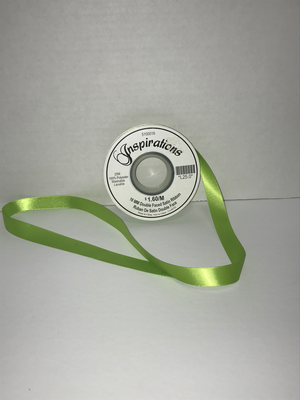 25MM Double Faced Satin Ribbon - Lime Green