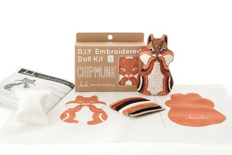 DIY Embroidery Animal Doll Kits