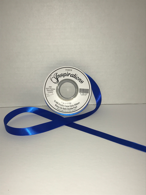 25MM Double Faced Satin Ribbon - Royal Blue