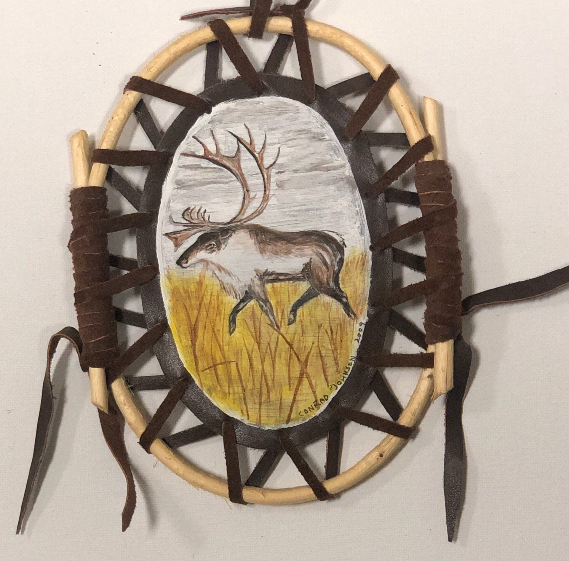 Hawk/Caribou dream catcher