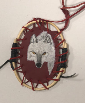 Double Sided Wolf Dream catcher