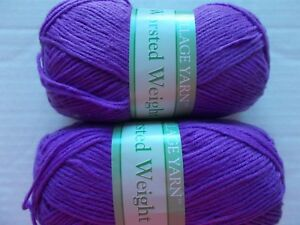 village yarn worsted weight - dark purple