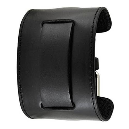 All-Black-Wide-Stitched-2-Pc.-Leather-Watch-Cuff