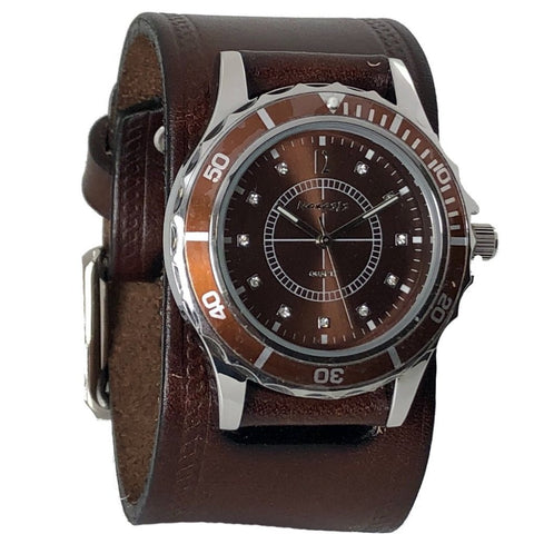 DHST092B Nemesis sporting case with brown vintage leather band