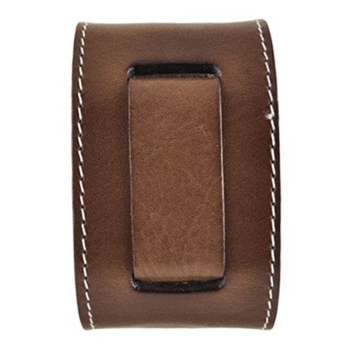 Brown Arrow End Single Stitch Leather Watch Cuff Band BGSB