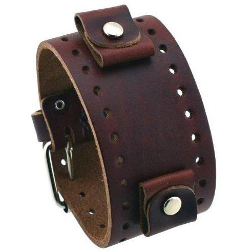 XL Basic Brown Leather Cuff Band BJB