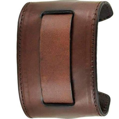 All-Dark-Brown-Stitched-Wide-2-Pc.-Leather-Cuff-Watch-Band